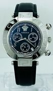 Versace Womenand039s Q5c99d009s009 New Reve Chronograph Black Dial Leather Watch Q5c