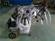 Double Buckets Piston Vacuum Milking Machine For Cows/ Cattle/ Sheep Cw