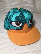 Official Disney Products Phineas And Ferb Snap Back Hat Camo