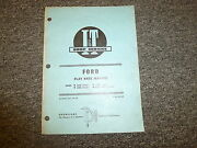 Ford 2000 3cyl 3000 3cyl 4000 3cyl And 5000 1965-up Tractor Flat Rate Manual Book