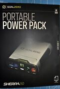 New Goal Zero/0 Sherpa 50 Power Pack 12 Volt, Usb, 19v Laptop Port And Ac Output ☦