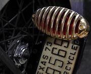 Solid Brass Finned Grill For Cateye Tail Light Harley Bobber Chopper -grill Only