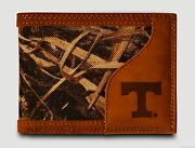Tennessee Volunteers Bi-fold Realtree Max-5 Camo And Leather Wallet - Vols Zep-pro