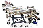Sparks Racing Stage 2 Power Kit Ss Full Red Exhaust Polaris Rzr Xp 1000