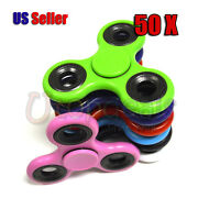 50x Hand Spinner Tri Fidget Spin Toy Edc Finger Adhd Gyro Wholesale Lot