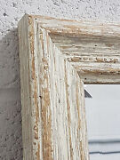 Handcrafted Mirror Distressed Shabby Chic Solid Wood White Made In Cumbria
