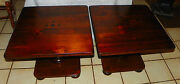 Pair Of Pine Ethan Allen Mid Century Old Tavern End Tables / Side Tables T620