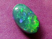 Gorgeous Pretty Sparking Bright Colour Pattern Natural Solid Black Opal 2 Carat.