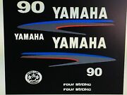 Yamaha 75 / 80 / 90 Hp Four Stroke Outboard Decal Sticker Kit Marine Vinyl