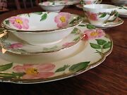 1960s Franciscan Desert Rose Dinnerware 25 Piece Set In Perfect Condition