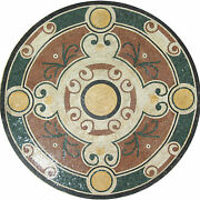 60 Traditional Round Medallion Pool Home Decor Marble Mosaic Md1134