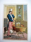 Patriotic Victorian Trade Card For Empire Wringer W/ Uncle Sam