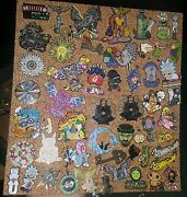 Limited Edition Metal Hat Pins Varying From Cartoon Characters To Music Artists
