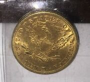 Coins Usa 1892 Gold 10 Liberty Head Ch About Unc -55.