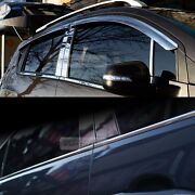 Stainless Chrome Window Vent Visor Under Molding 8p For Ssangyong 2006-11 Actyon