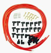 8.5 Mm Spark Plug Wires Hei Distributors 90 Degree Ends Premium Custom Wires Red