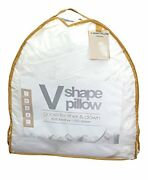 Luxury Pillow Duck And Goose Feather Memory Foam Satin Stripe V Shape Pillows