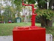 Antique Oil Pump With Large Tank.