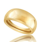 Plain Comfort Fit Wedding Band Ring 14k Yellow Gold Over Sterling Silver