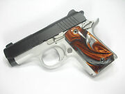 Copper And Silver Pearl Kimber Micro 9 Grips