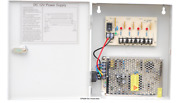 Power Box12v Dc 9ch 110v Ac Input 5amps, Surge Protected, Regulated And Filtered