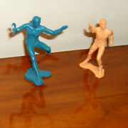 Batman And Robin Figures 1966 Ideal Justice League Playset Repros 3-inches Tall