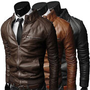 ★giacca Giubbotto Uomo In Di Pelle 100 Men Leather Jacket Veste Homme Cuir 3z3i