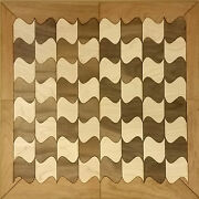 Diy Checkers / Chess Board Kit Pieces In Maple And Walnut Ready To Assemble