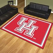 Houston Cougars 8and039 X 10and039 Decorative Ultra Plush Area Rug