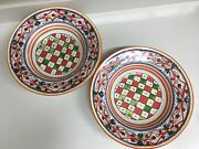 2 Williams Sonoma Lucca Pasta Salad Serving Bowls Italian Pottery Large 14