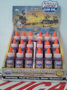 Lucas Gun Oil 10006 18x 2oz. Bottles Display Case Included Made In Usa