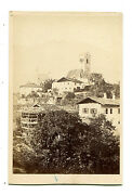 Village With Church Steeple In Background. Cdv By Peter Moosbrugger.