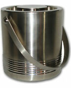 Dma Elements Home Brushed Insulated Ice Bucket 2-quart Silver Msrp49.99