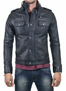 ★giacca Giubbotto Uomo In Di Pelle 100 Men Leather Jacket Veste Homme Cuir W40