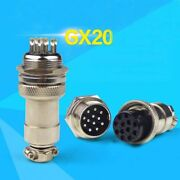 Aviation Plug Socket Gx20 2/3/4/5/6/7/8/9/10/12 Pin Core Contacts Connector 19mm