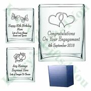 Personalised Glass Vase Engraved Birthday 50th 60th 70th 80th 90th Gift Gifts Ka