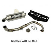 Sparks Racing X-6 Stainless Steel Exhaust System 10-17 Polaris Rzr 170 Red