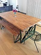 Oak Dining Table And Benches   Solid 40mm Oak   All Sizes Custom Made   Bespoke