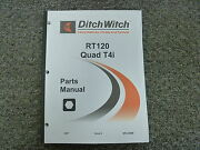 Ditch Witch Rt120 Quad Tier 4i Ride On Trencher Parts Catalog Manual Book