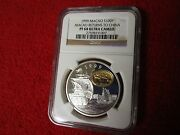 1999 Macao Returns To China Ngc Pf68 .925 Silver Gold Plated Macau 1 Oz Coin