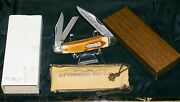 Schrade Knife Splitback Whittler Usa 8104 Tennessee W/pouch And Original Packaging