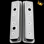 Chrome Small Block Chevy Centerbolt Valve Covers Fits 350 383 400 1985 Up