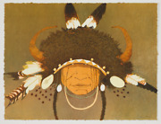 Original Signed Kevin Red Star Lithograph Wild Berry