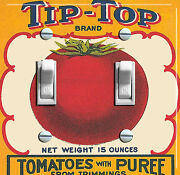 Tip-top Tomatoes Vintage Crate Label Decorative Dbl Switch Plate Free Shipping