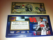 2 Dale Earnhardt Jr Nascar National Guard Legal Currency 2 Bill Colorized Gift