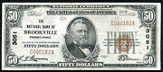 1929 50 The National Bank Of Brockville Pa National Currency Ch. 3051