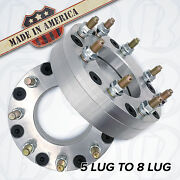 Usa Made  5 To 8 Lug Wheel Adapters / 2 Spacers   Dodge Ford   5x5.5 To 8x170