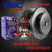 New Ebc 282mm Front Bsd Performance Discs And Redstuff Pads Kit Kit18007