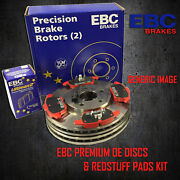New Ebc 320mm Front Brake Discs And Redstuff Pads Kit Oe Quality - Pd02kf217