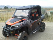 Polaris General 1000 Tip Out Glass Windshield And Back Panel With Glass Slider